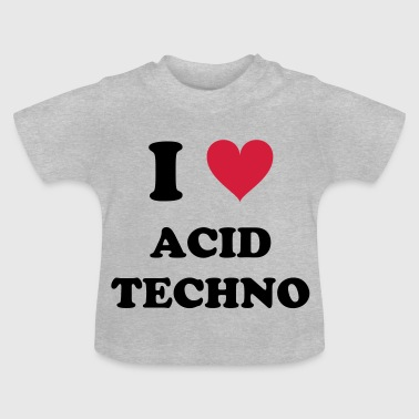 J'AIME ACID TECHNO - T-shirt Bébé