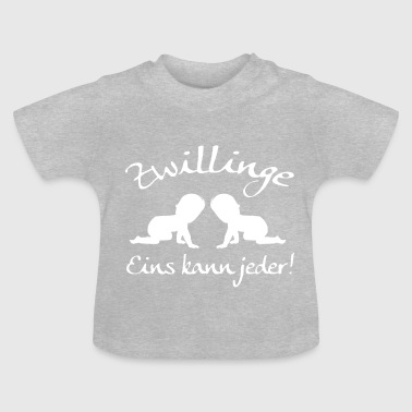 Twins, men kan altijd! - Baby T-shirt