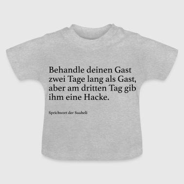 suchbegriff 39 gast 39 baby t shirts online bestellen spreadshirt. Black Bedroom Furniture Sets. Home Design Ideas