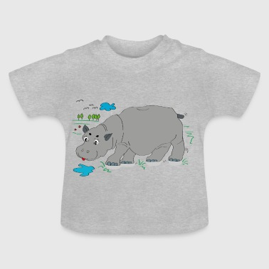 Hippo meadow - Baby T-Shirt