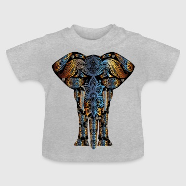 Elephant - Ornament 2 - Baby-T-shirt