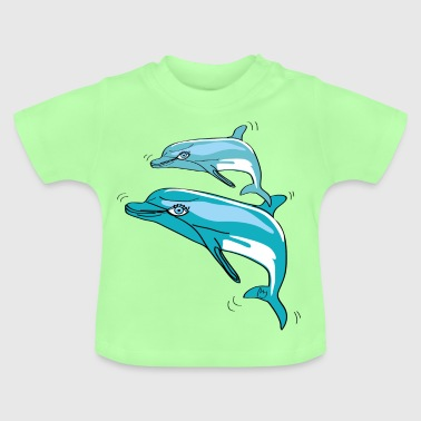 Dolphins, illustration - Baby T-Shirt