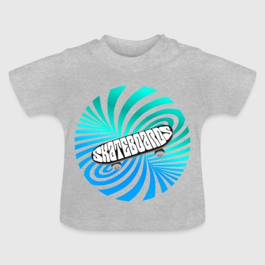 Skate illusion skateboard skater optical Art lol - Baby T-Shirt