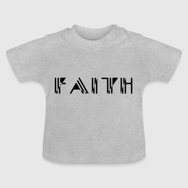 Faith Strich Stil - Baby T-Shirt