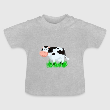 Vektor Cartoon Kuh - Baby T-Shirt