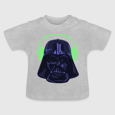Darth Vader overhead purple green - Baby T-Shirt