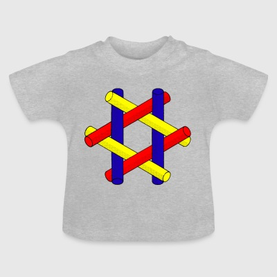 Optisk Illusion Pipes Design - Baby-T-shirt