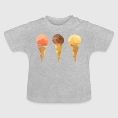 Low Poly Icecream - Baby T-Shirt
