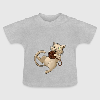 laine Cat boule de laine Kitty animaux Animaux - T-shirt Bébé