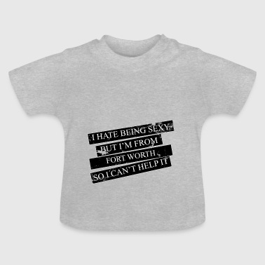 Motiv for byer og lande - FORT WORTH - Baby T-shirt