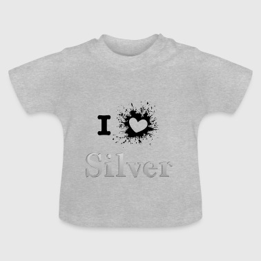 ILove silver sprd - Baby T-Shirt