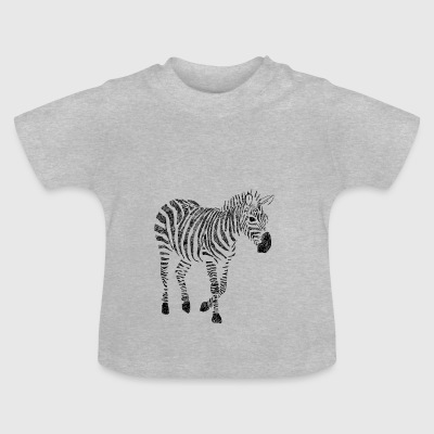 Zebra Zentangle - Baby T-Shirt