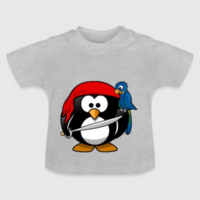 Pirate Penguin pirater - Baby T-shirt