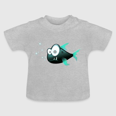 forvirret Piranha - Baby T-shirt