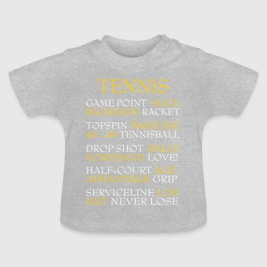 Tennis words - Baby T-Shirt