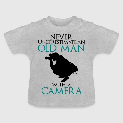 Never Underestimate Old man with camera - funny - Baby T-Shirt