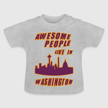 Washington Awesome mennesker bor i - Baby-T-skjorte