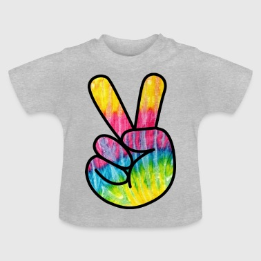 Peace tegn - Bunt 1 - Baby T-shirt