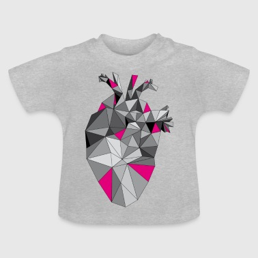 Graphic Heart with Pink - Baby T-Shirt