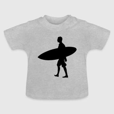 Man Surf Board - Baby T-Shirt