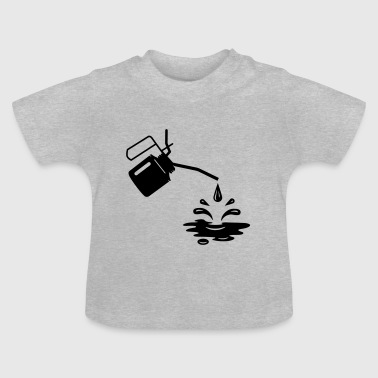 An oil can and oil drops  - Baby T-Shirt