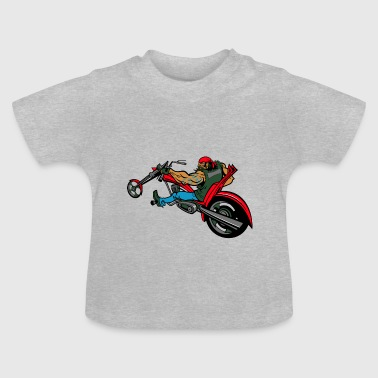 Biker on chopper - Baby T-Shirt
