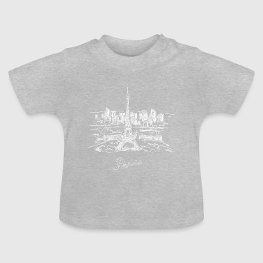 Paris City - Frankrike - Baby-T-shirt