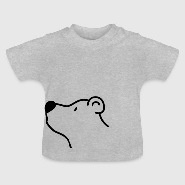 Cute bear with big black nose - Baby T-Shirt