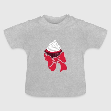 cupcake with bow / Muffin mit Schleife (d, 2c) - Baby T-Shirt