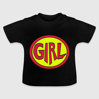 Super, Superheld, Superheldin, Hero, Girl - Baby T-shirt