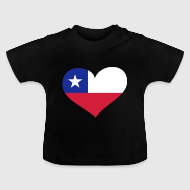 Chile Herz; Heart Chile - T-shirt Bébé