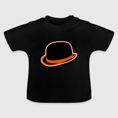 Horrorshow Orange Bowler Hat Melone Hut Clown Alex - Maglietta per neonato