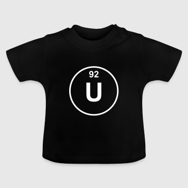 Element 92 - u (uranium) - Minimal - T-shirt Bébé