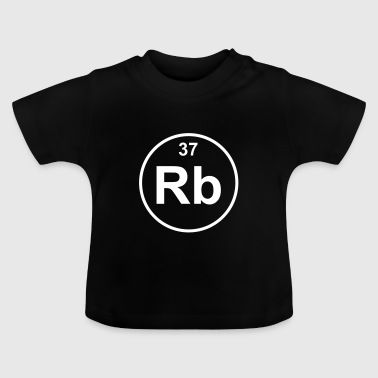 Element 37 - rb (rubidium) - Minimal - Camiseta bebé