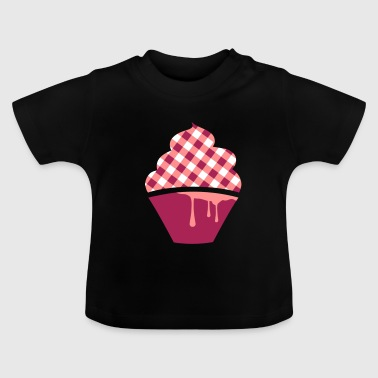a plaid cupcake - Baby T-Shirt
