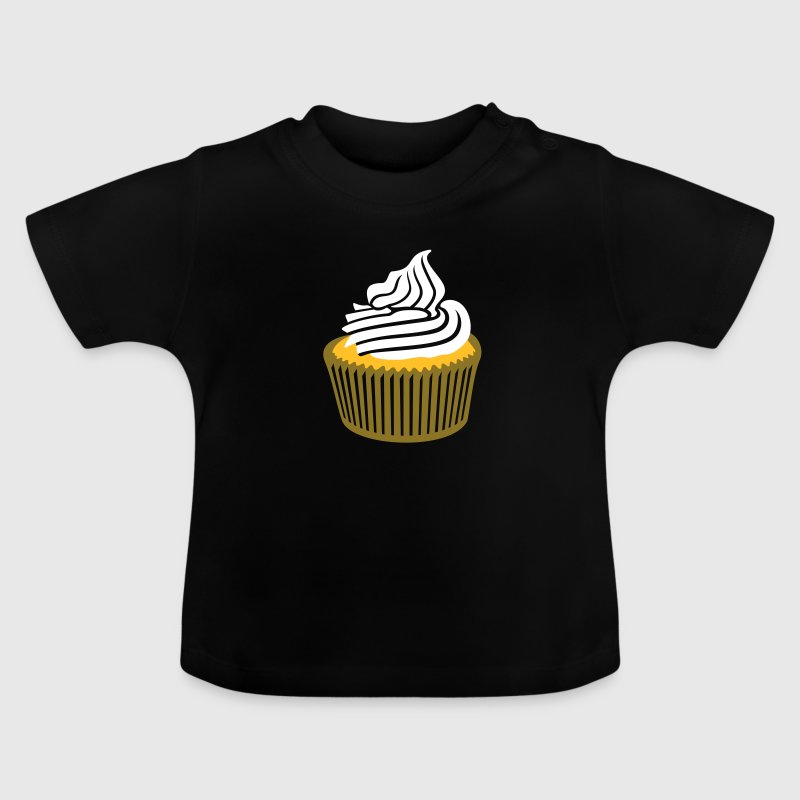 cupcake with cream / Muffin mit Sahne (c, 3c) - Baby T-Shirt