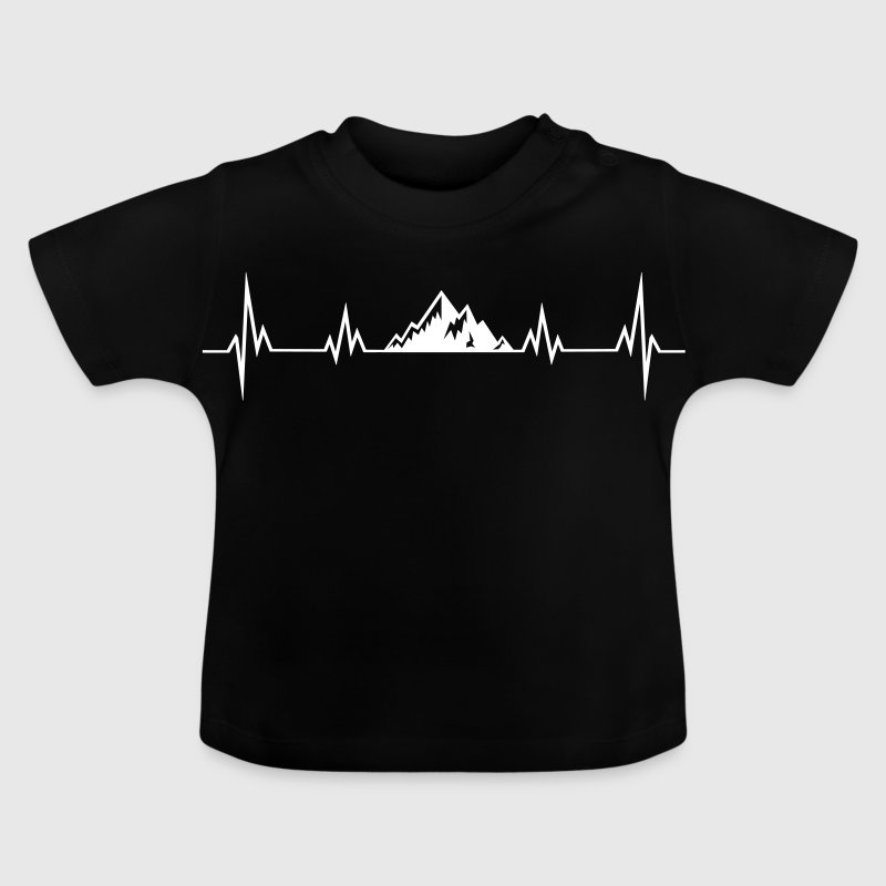 Heartbeat mountains - Baby T-Shirt