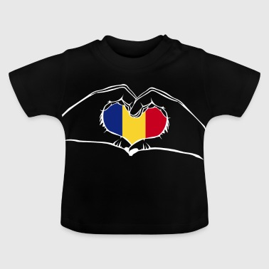 I love Romania - heart hands - Baby T-Shirt