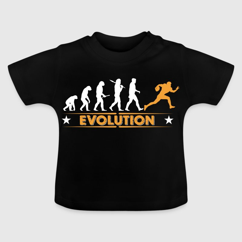 American Football - Evolution orange/weiss - Baby T-Shirt