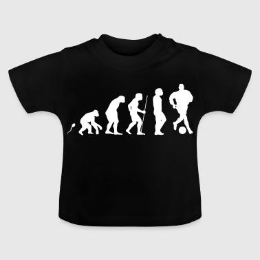 Fußball Evolution witziges Fun Shirt - Baby T-Shirt