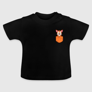 Pocket Fox Pocket Pocket - Maglietta per neonato