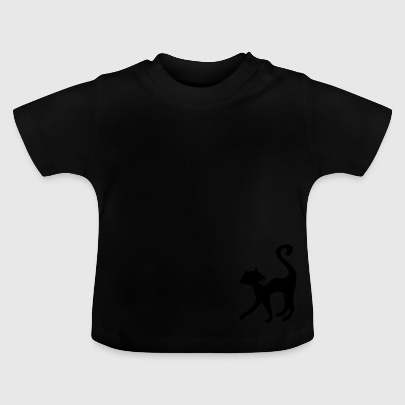 retro black cat sweet silhouette - Baby T-Shirt