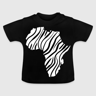 African continent in thin zebra stripes - Baby T-Shirt