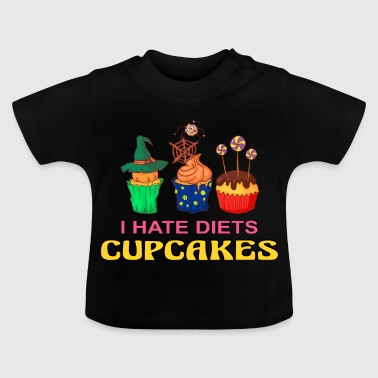 Halloween Spinne Halloween Cupcake Muffin Kuchen Backen Süßigkeiten - Baby T-Shirt