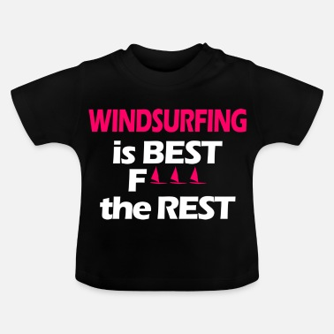 Wind Wind Surfer Girl - Baby-T-shirt