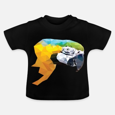 Geometrisk lav poly papegøjehoved - Baby T-shirt