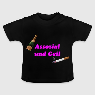 Associal and horny - Baby T-Shirt
