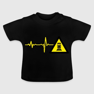 Gift heartbeat train driver - Baby T-Shirt