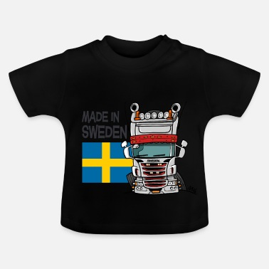 Truck Made in Sweden - Baby T-shirt
