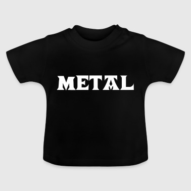 Metal Death Hard Rock Black Metalhead Thrash Core - Baby T-Shirt